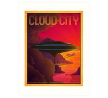 Cloud City Retro Travel Poster Art Print