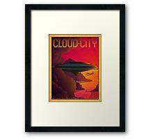 Cloud City Retro Travel Poster Framed Print