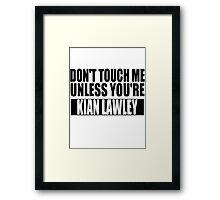 don't touch - KL Framed Print