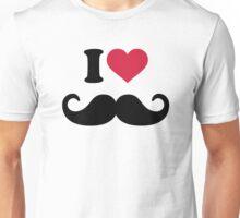 I love Mustache beard Unisex T-Shirt
