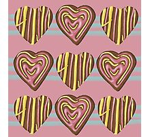 Gingerbread Love on Pink Photographic Print