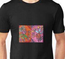 Roses- Lino Print and Pencil Unisex T-Shirt
