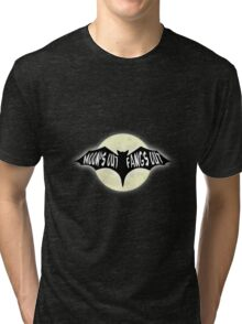 Moon's Out Fangs Out Halloween Party Design Tri-blend T-Shirt