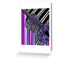 Study in the Key of Purple Greeting Card