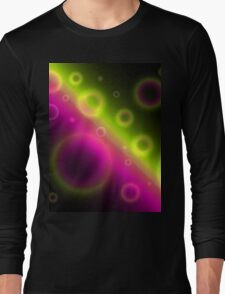 Bubbles Abstract Background Long Sleeve T-Shirt