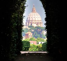 St. Peter Dome viewed from the Beautiful Garden by Alessandro Pinto