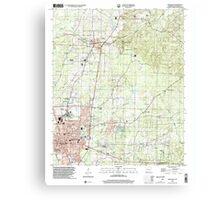 USGS TOPO Map Arkansas AR Magnolia 258996 2000 24000 Canvas Print
