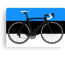 Bike Flag Estonia (Big - Highlight) Canvas Print