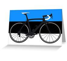 Bike Flag Estonia (Big - Highlight) Greeting Card