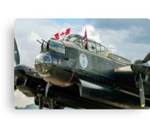 "Avro Lancaster B.X FM213/C-GVRA ""Vera"" nose detail Canvas Print"
