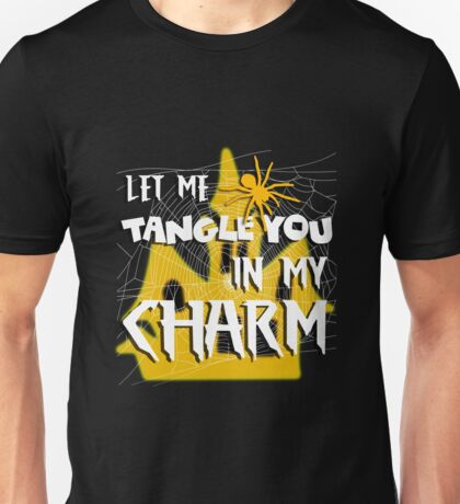 Let Me Tangle You In My Charm Orange Halloween Party Design Unisex T-Shirt