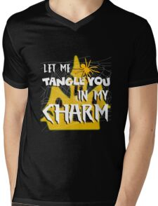 Let Me Tangle You In My Charm Orange Halloween Party Design Mens V-Neck T-Shirt