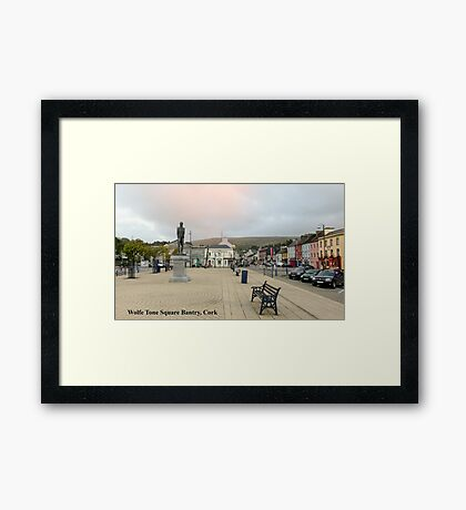 Wolfe Tone Square Bantry, Cork Framed Print