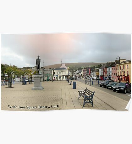 Wolfe Tone Square Bantry, Cork Poster