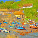 Cadgwith Cove Harbour by Catherine Hamilton-Veal  ©