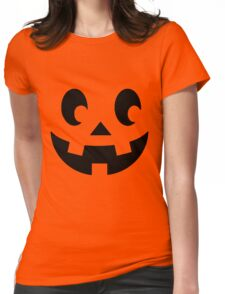 Cute Pumpking Face Womens Fitted T-Shirt
