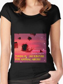 No excuse for Animal Abuse - Puppy Doe Women's Fitted Scoop T-Shirt