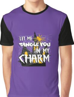 Let Me Tangle You In My Charm Halloween Party Design Graphic T-Shirt