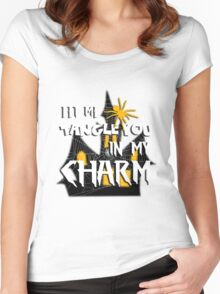 Let Me Tangle You In My Charm Halloween Party Design Women's Fitted Scoop T-Shirt