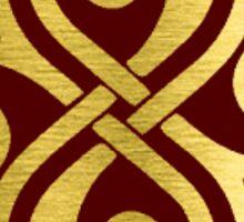 Gold Border Seal of Rassilon Sticker