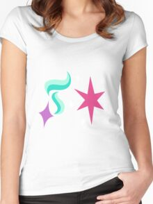My little Pony - Starlight Glimmer + Twilight Sparkle Cutie Mark Women's Fitted Scoop T-Shirt