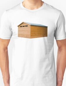 Garden Shed Natural Wood Unisex T-Shirt