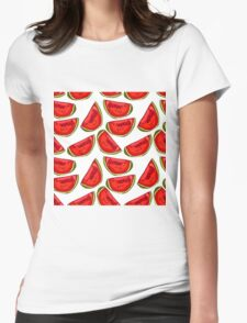 Watermelon love pattern. Womens Fitted T-Shirt