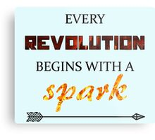 The Hunger Games - Spark  Metal Print