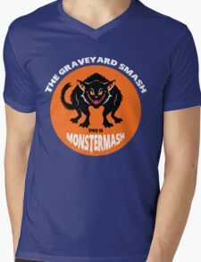 This is Monster Mash - Black Cat Edition Mens V-Neck T-Shirt