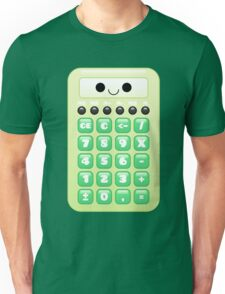 kawaii green calculator Unisex T-Shirt