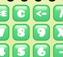 kawaii green calculator Sticker