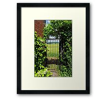 This Way To The Fields Framed Print