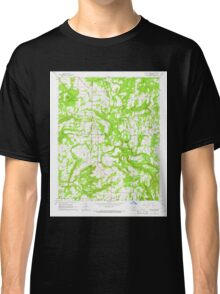 USGS TOPO Map Arkansas AR Velvet Ridge 259790 1965 24000 Classic T-Shirt
