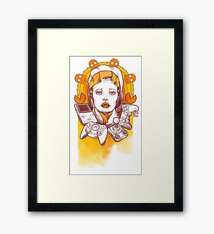 Saint Gamer Girl Framed Print