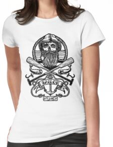 Sailor Skull Womens Fitted T-Shirt