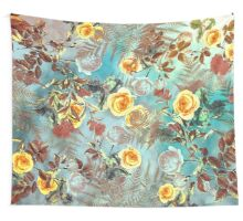 flowers blue  Wall Tapestry