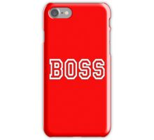 BOSS, The Boss, The Govenor, CEO, In charge, The Chief, Obey! On Red iPhone Case/Skin