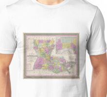 Vintage Map of Louisiana (1853)  Unisex T-Shirt