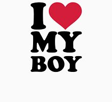 I love my boy Womens Fitted T-Shirt