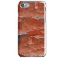 Abstract rusty metallic cubes. Grunge background. 3D illustration. iPhone Case/Skin