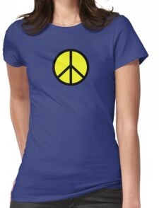 Hippie yellow black Womens Fitted T-Shirt