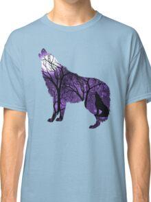 Howling Wild Wold - Purple Classic T-Shirt