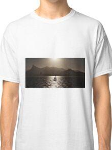 Sailing boat backlit in Rio de Janeiro Classic T-Shirt