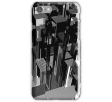Abstract black and white city concept. 3d illustration. iPhone Case/Skin