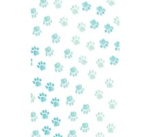 Paw Prints in Watercolor Photographic Print