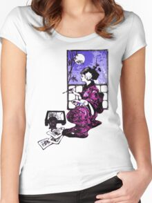 Lightly Brush Ink Women's Fitted Scoop T-Shirt