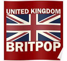United kingdom flag britpop Poster