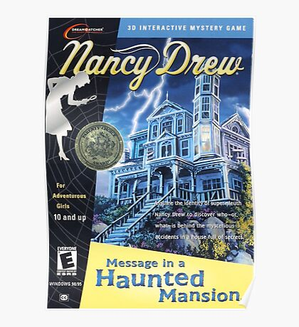 Nancy Drew - Message In a Haunted Mansion (POSTER) Poster
