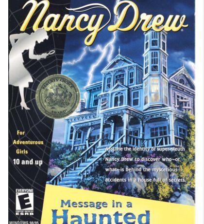 Nancy Drew - Message In a Haunted Mansion (POSTER) Sticker