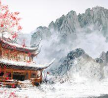 Japan Temple Sticker
